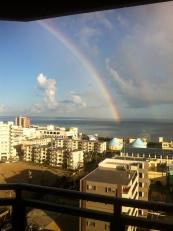 二重にかかる虹