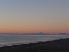 ジブラルタルやモロッコの方まで良く見えます。