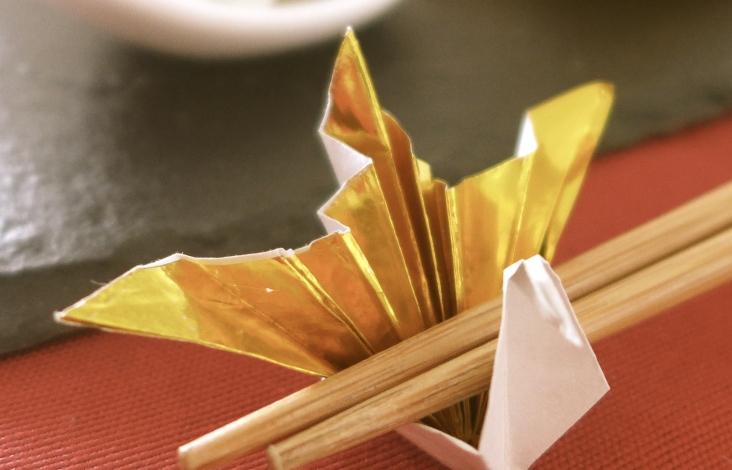 折り紙で作った箸置き